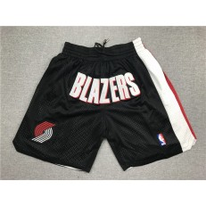 Portland Trail Blazers Black Just Don Mesh Shorts