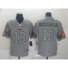 Cleveland Browns #13 Odell Beckham Jr. 2019 Gray Gridiron Gray Vapor Untouchable Limited Nike NFL Men Jersey