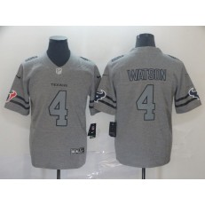 Houston Texans #4 Deshaun Watson 2019 Gray Gridiron Gray Vapor Untouchable Limited Nike NFL Men Jersey
