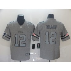 New England Patriots #12 Tom Brady 2019 Gray Gridiron Gray Vapor Untouchable Limited Nike NFL Men Jersey