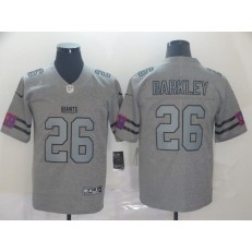 New York Giants #26 Saquon Barkley 2019 Gray Gridiron Gray Vapor Untouchable Limited Nike NFL Men Jersey