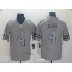 Oakland Raiders #4 Derek Carr 2019 Gray Gridiron Gray Vapor Untouchable Limited Nike NFL Men Jersey