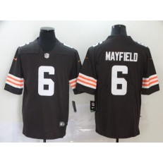 Cleveland Browns #6 Baker Mayfield Brown 2020 New Vapor Untouchable Limited Nike NFL Men Jersey