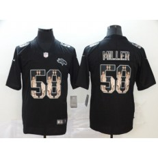 Denver Broncos #58 Von Miller Black Statue Of Liberty Limited Nike NFL Men Jersey
