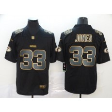 Green Bay Packers #33 Aaron Jones Black Gold Vapor Untouchable Limited Nike NFL Men Jersey