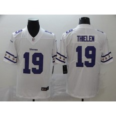 Minnesota Vikings #19 Adam Thielen White Team Logos Fashion Vapor Limited Nike NFL Men Jersey