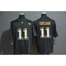 New England Patriots #11 Julian Edelman Black Jesus Faith Edition Limited Nike NFL Men Jersey