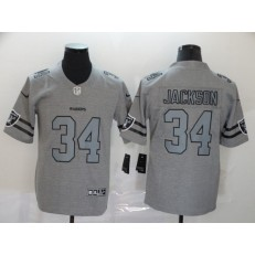 Oakland Raiders #34 Bo Jackson 2019 Gray Gridiron Gray Vapor Untouchable Limited Nike NFL Men Jersey
