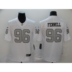Oakland Raiders #96 Clelin Ferrell White Color Rush Limited Nike NFL Men Jersey