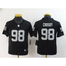 Youth Nike Oakland Raiders #98 Maxx Crosby Black Vapor Untouchable Limited Nike NFL Men Jersey