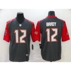 Tampa Bay Buccaneers #12 Tom Brady Black Vapor Untouchable Limited Nike NFL Men Jersey