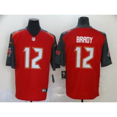Tampa Bay Buccaneers #12 Tom Brady Red Black Vapor Untouchable Limited Nike NFL Men Jersey