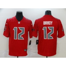 Tampa Bay Buccaneers #12 Tom Brady Red Color Rush Limited Nike NFL Men Jersey