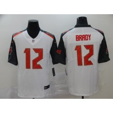 Tampa Bay Buccaneers #12 Tom Brady White Black Vapor Untouchable Limited Nike NFL Men Jersey