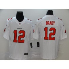 Tampa Bay Buccaneers #12 Tom Brady White Vapor Untouchable Limited Nike NFL Men Jersey