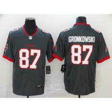 Tampa Bay Buccaneers #87 Rob Gronkowski Gray 2020 New Vapor Untouchable Limited Nike NFL Men Jersey