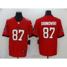 Tampa Bay Buccaneers #87 Rob Gronkowski Red 2020 New Vapor Untouchable Limited Nike NFL Men Jersey