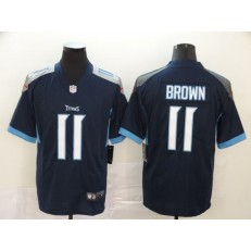 Tennessee Titans #11 A.J. Brown Navy Vapor Untouchable Limited Nike NFL Men Jersey