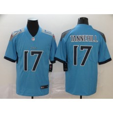 Tennessee Titans #17 Ryan Tannehill Blue Vapor Untouchable Limited Nike NFL Men Jersey
