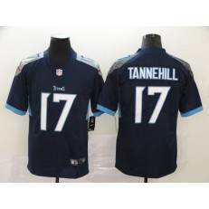 Tennessee Titans #17 Ryan Tannehill Navy Vapor Untouchable Limited Nike NFL Men Jersey