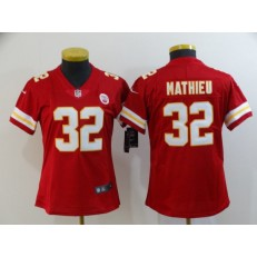 Women Nike Kansas City Chiefs #32 Tyrann Mathieu Red Vapor Untouchable Limited Jersey
