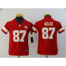 Youth Nike Kansas City Chiefs #87 Travis Kelce Red Vapor Untouchable Limited Jersey