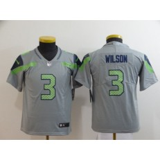 Youth Nike Seattle Seahawks #3 Russell Wilson Gray Inverted Legend Limited Jersey