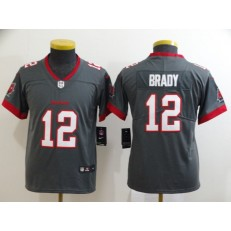 Youth Nike Tampa Bay Buccaneers #12 Tom Brady Gray New 2020 Vapor Untouchable Limited Jersey