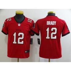 Youth Nike Tampa Bay Buccaneers #12 Tom Brady Red New 2020 Vapor Untouchable Limited Jersey