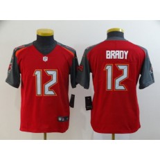 Youth Nike Tampa Bay Buccaneers #12 Tom Brady Red Vapor Untouchable Limited Jersey