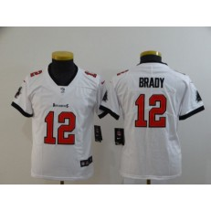 Youth Nike Tampa Bay Buccaneers #12 Tom Brady White New 2020 Vapor Untouchable Limited Jersey
