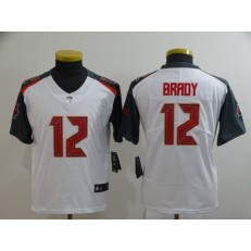 Youth Nike Tampa Bay Buccaneers #12 Tom Brady White Vapor Untouchable Limited Jersey