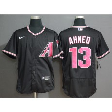 MLB Arizona Diamondbacks #13 Nick Ahmed Black Nike Flexbase Jersey