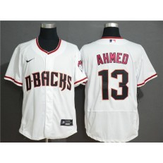 MLB Arizona Diamondbacks #13 Nick Ahmed White Nike Flexbase Jersey