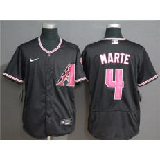 MLB Arizona Diamondbacks #4 Ketel Marte Black Nike Flexbase Jersey