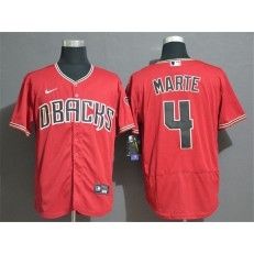 MLB Arizona Diamondbacks #4 Ketel Marte Red Nike Flexbase Jersey