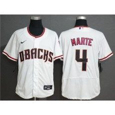 MLB Arizona Diamondbacks #4 Ketel Marte White Nike Flexbase Jersey