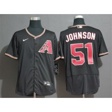 MLB Arizona Diamondbacks #51 Randy Johnson Black Nike 2020 Flexbase Jersey
