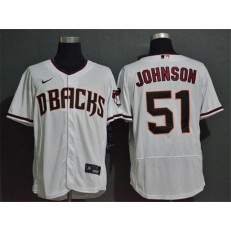 MLB Arizona Diamondbacks #51 Randy Johnson White Nike 2020 Flexbase Jersey