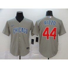 MLB Chicago Cubs #44 Anthony Rizzo Gray 2020 Nike Cool Base Jersey