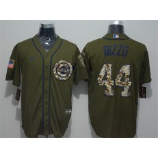 MLB Chicago Cubs #44 Anthony Rizzo Olive 2020 Nike Cool Base Jersey