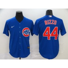 MLB Chicago Cubs #44 Anthony Rizzo Royal 2020 Nike Cool Base Jersey