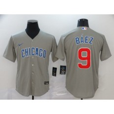 MLB Chicago Cubs #9 Javier Baez Gray 2020 Nike Cool Base Jersey