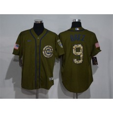 MLB Chicago Cubs #9 Javier Baez Olive 2020 Nike Cool Base Jersey