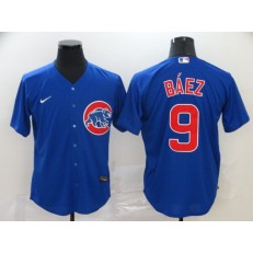 MLB Chicago Cubs #9 Javier Baez Royal 2020 Nike Cool Base Jersey