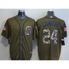 MLB Detroit Tigers 24 Miguel Cabrera Olive 2020 Nike Cool Base Jersey