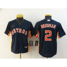 MLB Houston Astros 2 Alex Bregman Navy Women 2020 Nike Cool Base Jersey