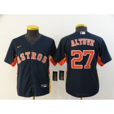 MLB Houston Astros 27 Jose Altuve Navy Youth 2020 Nike Cool Base Jersey