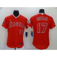MLB Los Angeles Angels 17 Shohei Ohtani Red 2020 Nike Flexbase Jersey