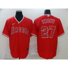 MLB Los Angeles Angels 27 Mike Trout Red 2020 Nike Cool Base Jersey